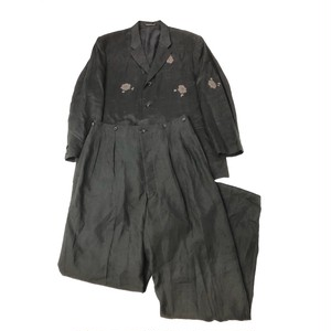 YOHJIYAMAMOTO POURHOMME 90s LINEN FLOWER SET-UP DEADSTOCK