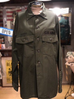 US.ARMY オリーブ ミリタリー シャツ 70s  vintage アメリカ USA