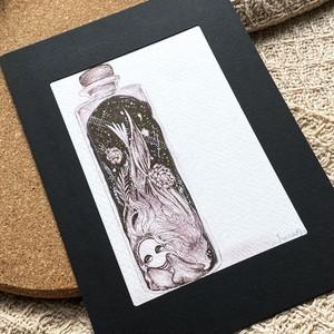 『プラネタリウム』 ポストカードサイズ原画(No.91)