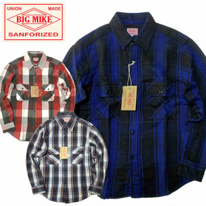 (ビッグマイク)BIG MIKE HEAVY WEIGHT FLANNEL SHIRT