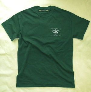 【Cafe Racer's MET】S/S T-SHIRTS (Back Print)British Green