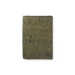 VEGAN BUSINESS CARD HOLDER  Olive + Natural / 名刺入れ オリーブ&ナチュラル コルク製