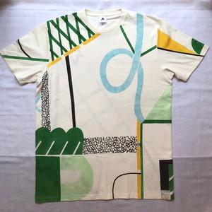 【2021年Tシャツ展】梢夏子「here」Tシャツ メンズXLサイズ 特典絵葉書付き 【ハンドメイドTシャツ・作家作品】