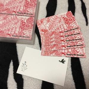 【予約販売・送料無料】メッセージカード「Blooming~榮」100枚