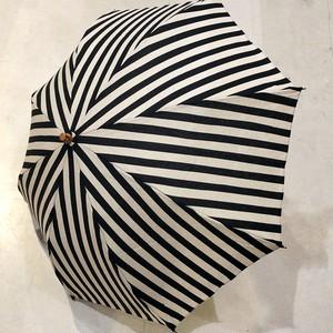 SUR MER (シュールメール) 日本製 折り畳み日傘 BLACK STRIPE  ブラックストライプ
