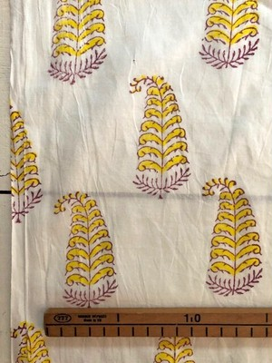 【NEW】Block print 黄色い桐の花