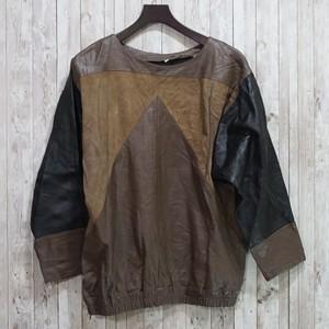 フランス レザーシャツ 60-70's France [C592]