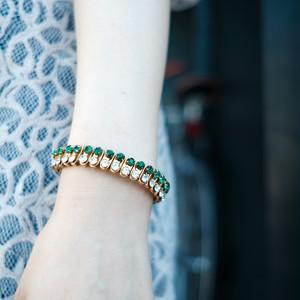 【used】vintage Bellows Rhinestone bracelet