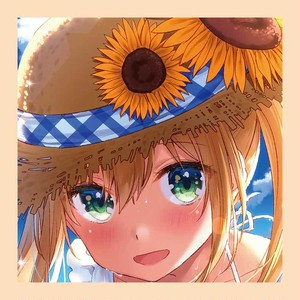 【8/9入荷予定】桝石きのと B2タペストリー&缶バッチキーホルダーセット『君色の夏』