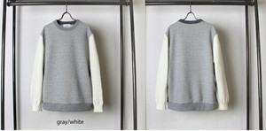 【予約商品:9月26日午後予定】Switch Crewneck Pullover Gray / White
