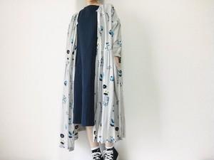 ボタニカル*花々の羽織りワンピース*リボン付き