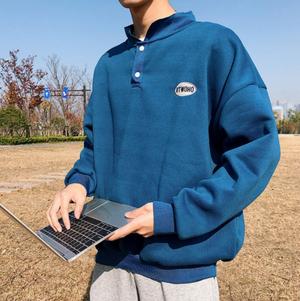 【人気NO.7】Front button point logo sweatshirts LD0540