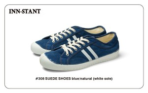 #308 SUEDE SHOES blue/natural (white sole)  INN-STANT インスタント