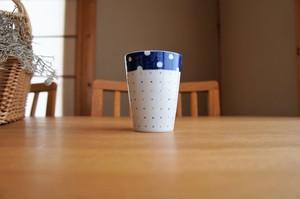 砥部焼/フリーカップ/水玉とカラフルドット/皐月窯