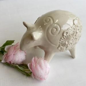 子バクの夢・花器(A)/お誕生日祝い/新築祝い/引越し祝い/Myご褒美