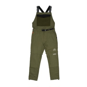 LAUREL ZIP OFF OVERALL - OLIVE   F19-2500