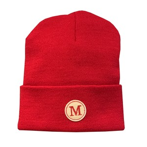 MONSE Embroidered 'M' Beanie RED