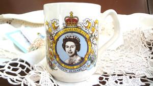 コロネーションマグ エリザベス女王在位25周年記念マグ ビンテージカップ