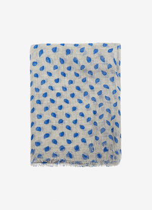 FOULARD WITH CASHMERE PRINT