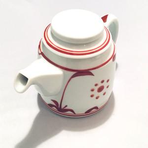 【砥部焼/梅山窯】ティーポット(赤太陽)