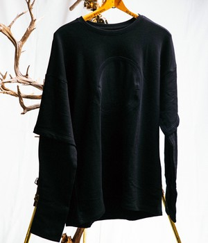 JOE CHIA - Mens knitted double layered sweater - TS03