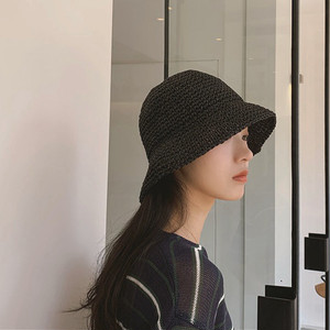 4color : Straw Bucket Hat  91009 バケットハット  ストローハット1麦わら帽子