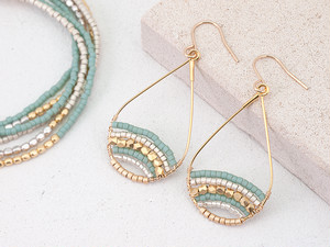 Mix Beads Drop Earrings