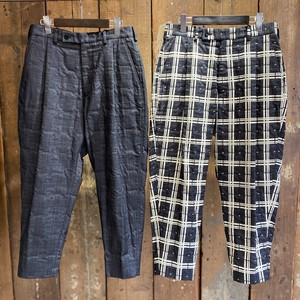 08sircus / Pigment check bonding pants