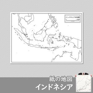 インドネシアの紙の白地図