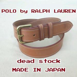 【良品/日本製】新品/ポロ バイ ラルフローレンPOLO by RALPH LAUREN/デッドストック/レザーベルト/茶/
