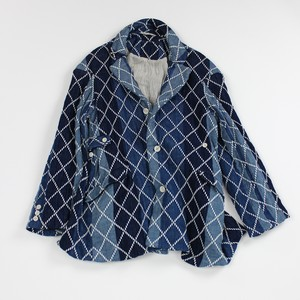 大青 Da Qing Jacket - Diamond Sashiko Gauze / MIAO BLUE