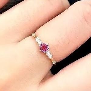 誕生石リング|ピンクトルマリン|10月|リング|婚約指輪