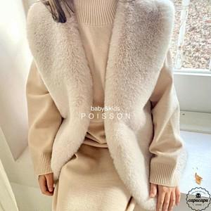 «sold out» Fur vest 2colors ファーベスト