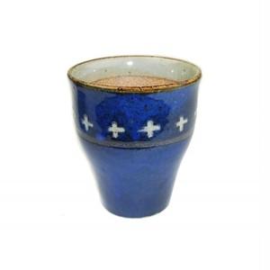ビアカップ 陶器 ブルー・クロス