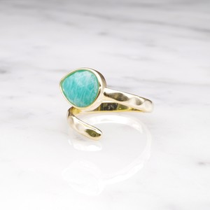 SINGLE STONE OPEN RING GOLD 027