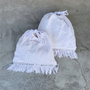 remake vintage french chenille fabric bag