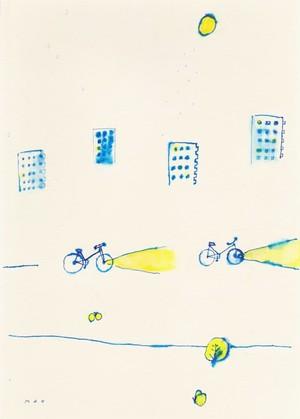 ストックイラスト 「レモンの夜に君とゆく」