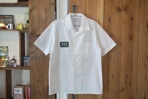 Wappen Open collar shirt #01 white