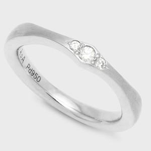 PORTADA BABY RING AIRE(LADY'S MODEL)Pd950 (ポルターダベビーリング アイレ レディースモデル パラジウム950 ダイヤモンド)