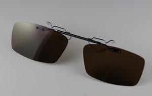 レンズ交換可能!超軽量前掛け偏光サングラス/ダークブラウン