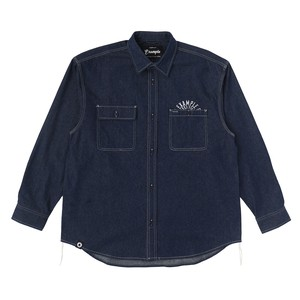 EXAMPLE CIRCLE LOGO WORK L/S SHIRT / DEEP DENIM