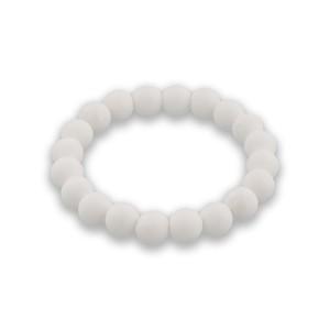 バランスブレスレット200ホワイト・ラウンドシリコーンビーズ (ホワイト10mm)