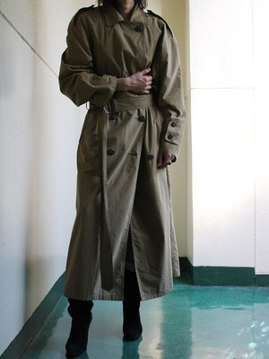 80s silk trench coat