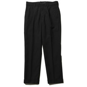 TUCK TROUSERS (BLACK) / RUDE GALLERY