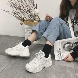 【shoes】カジュアルPU防水厚底スニーカー17206349