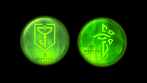 INGRESS THE ANIMATION  高発光缶バッジ 2種 / グルーヴガレージ