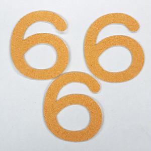 切り文字 A&Cペーパー パルプロック 粘着付 数字「6」