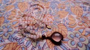 Japa Mala : Rose Quartz & Moonstone & Citrine