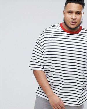 ビッグサイズ オーバーサイズ マリンストライプ Tシャツ