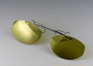 レンズ交換可能!超軽量前掛け偏光サングラス/ダークイエローS202